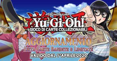 Yu-Gi-Oh! Aggiornamento Lista Carte Bandite & Limitate, valido dal 1° aprile